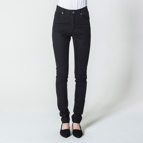 4b4f3a24c2ec Cheap Monday Pants - High Waist Skinny Black Jeans (Second Skin Coated)